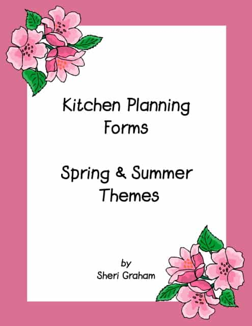 Free Kitchen Planning Forms