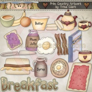 Clip Art Kit: Time for Breakfast