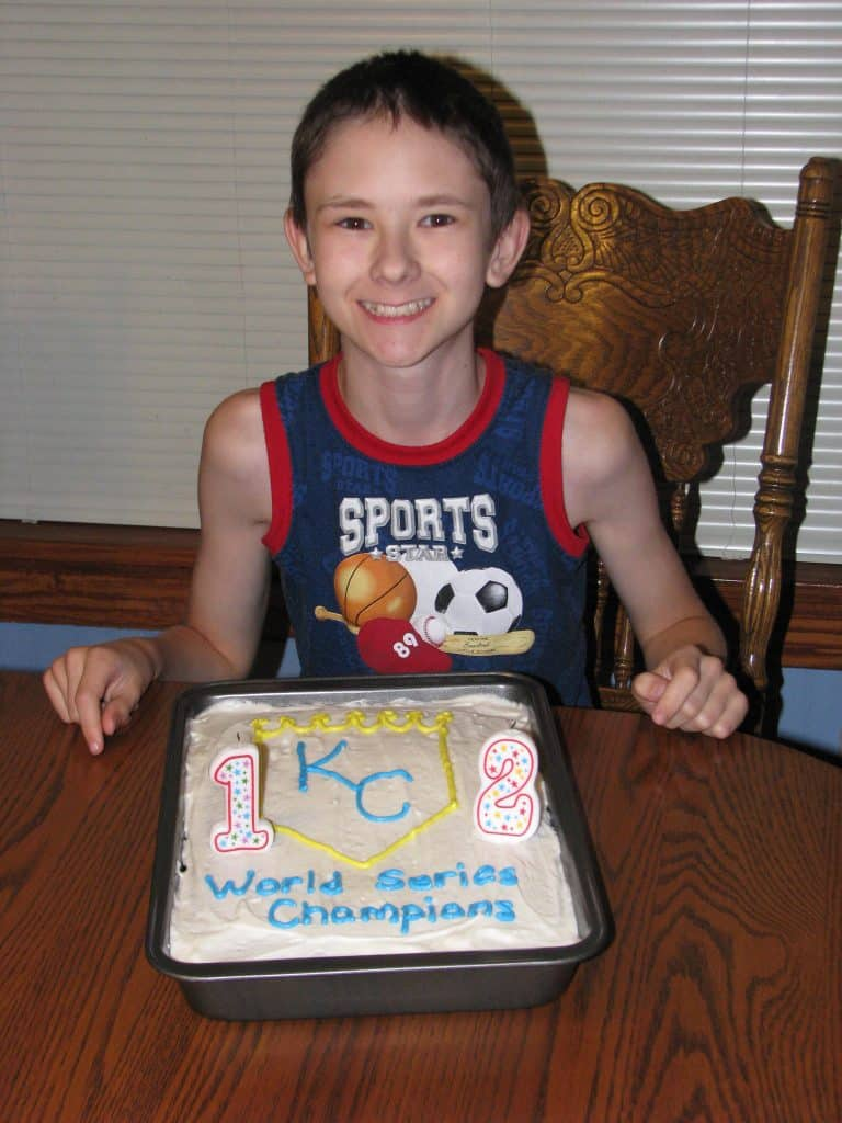 Of course Jonathan had to do a KC Royals World Series Champs cake!