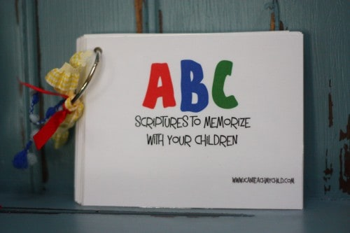 Homemade for the Holidays #7: ABC Scripture Book