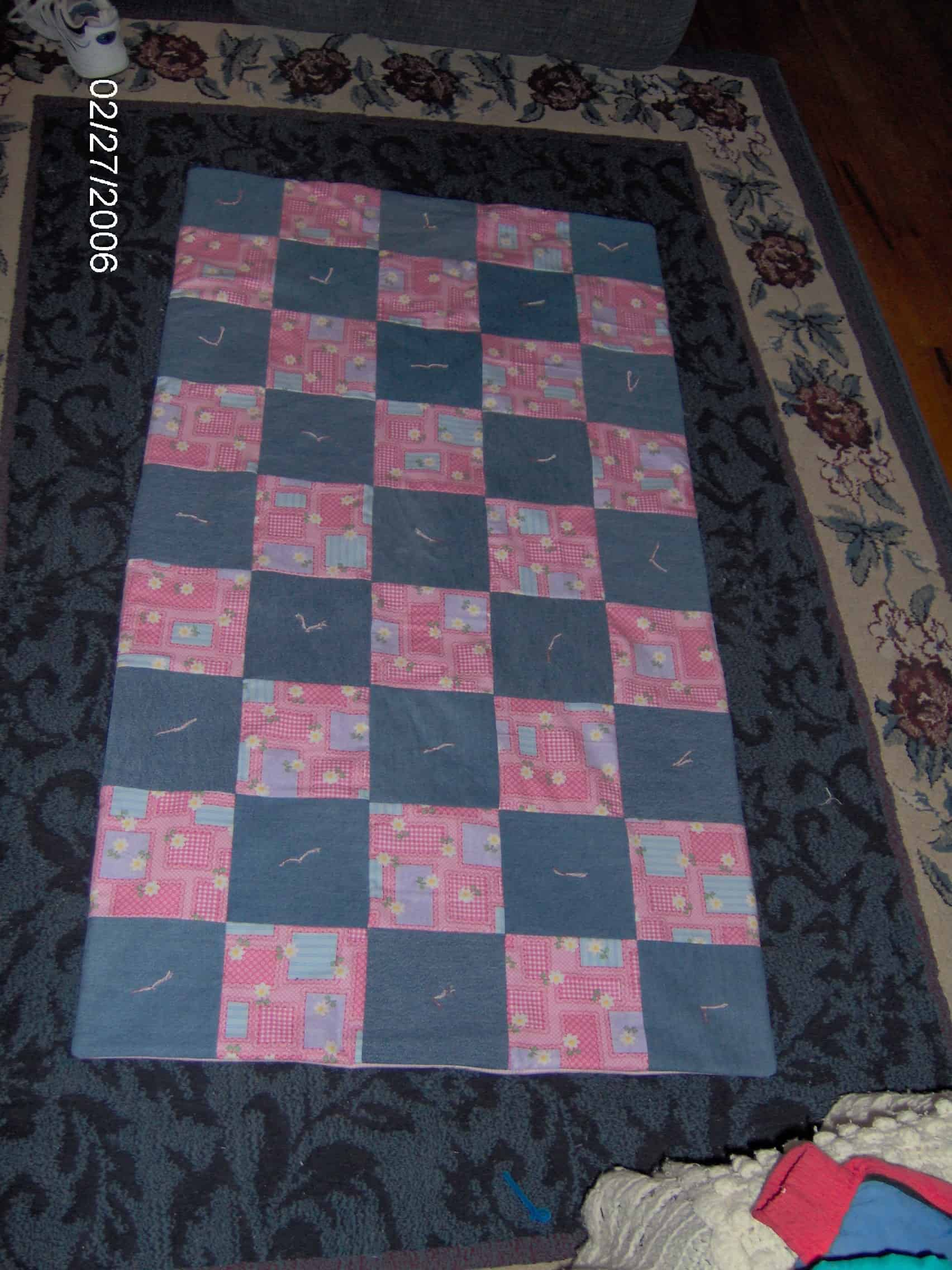 Homemade for the Holidays #19:  Denim Quilt {sewing project}