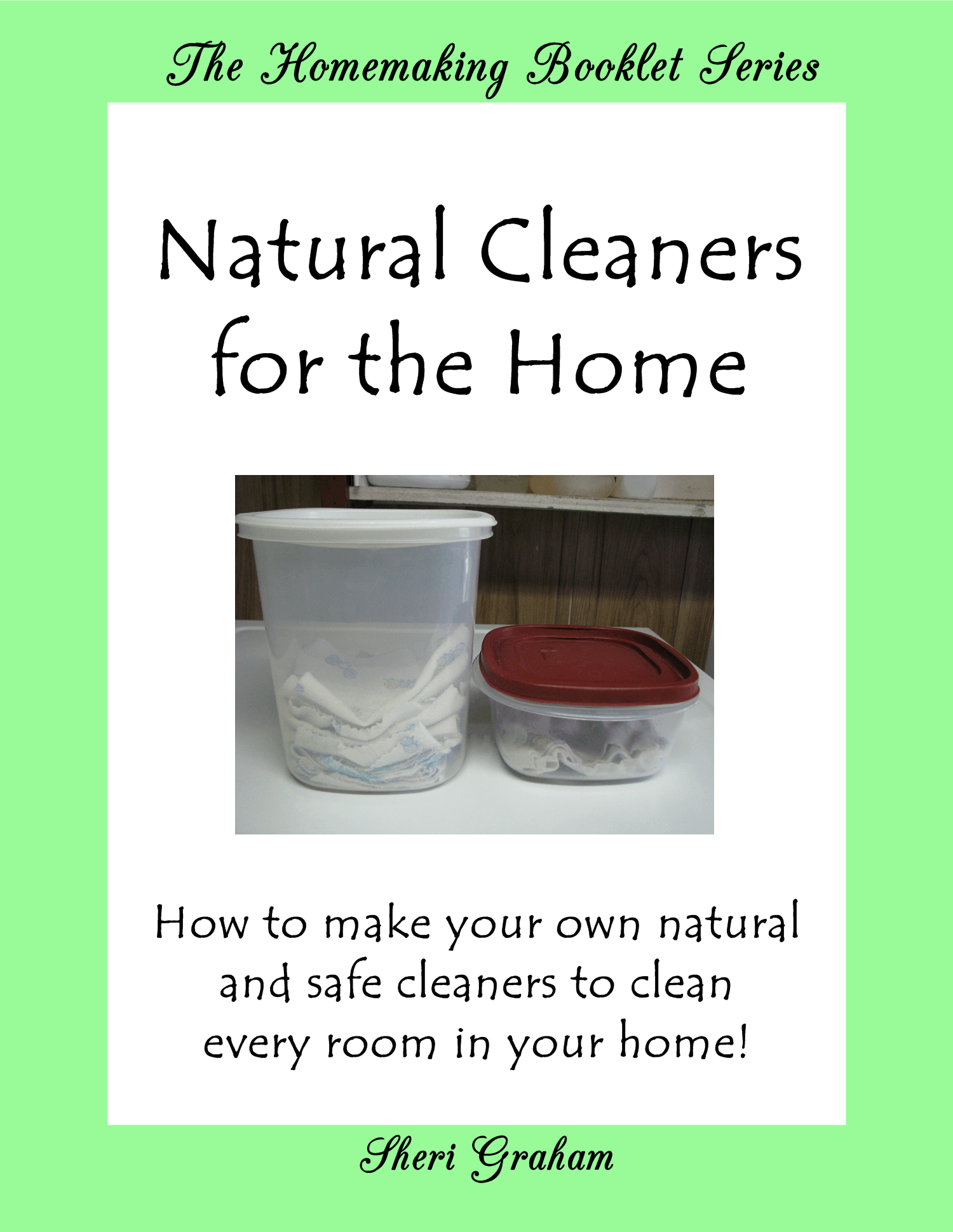 Natural Cleaners for the Home (Kindle book)