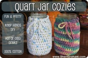 Quart Jar Cozies for all your Trim Healthy Mama drinks!