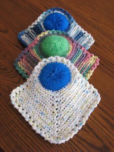 The Wonder Scrubcloth (Set of 3) - In blues and greens