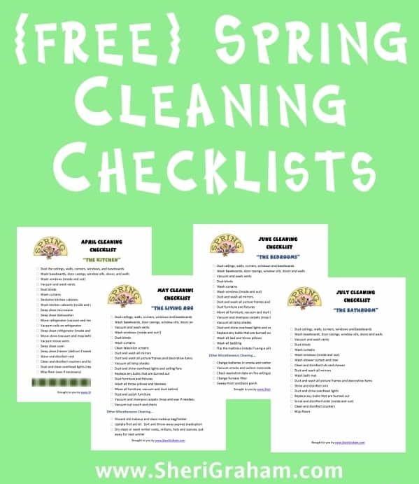 {free} Spring Cleaning Checklists