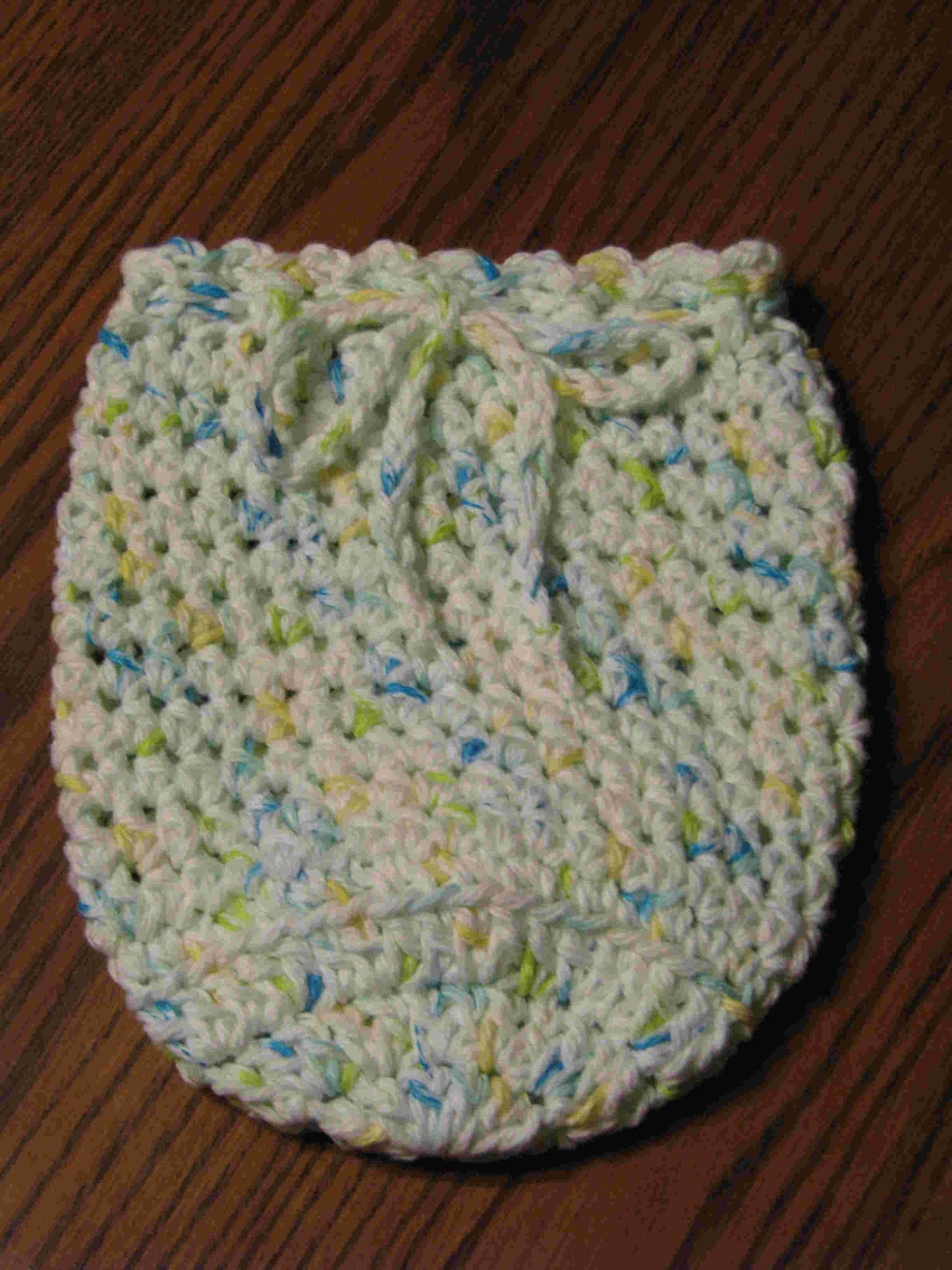Quart Jar Cozy (White with flecks of blue/green/yellow)