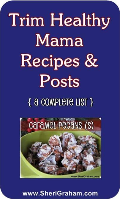 Trim Healthy Mama Recipes List