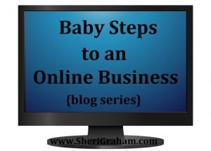 Baby Steps to an Online Business {blog series}
