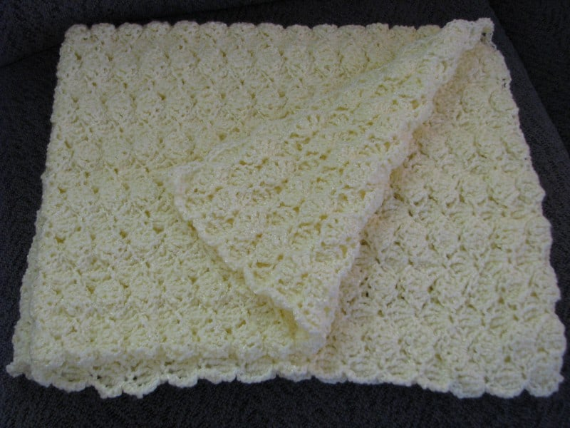 Crochet Baby Blanket (Yellow)