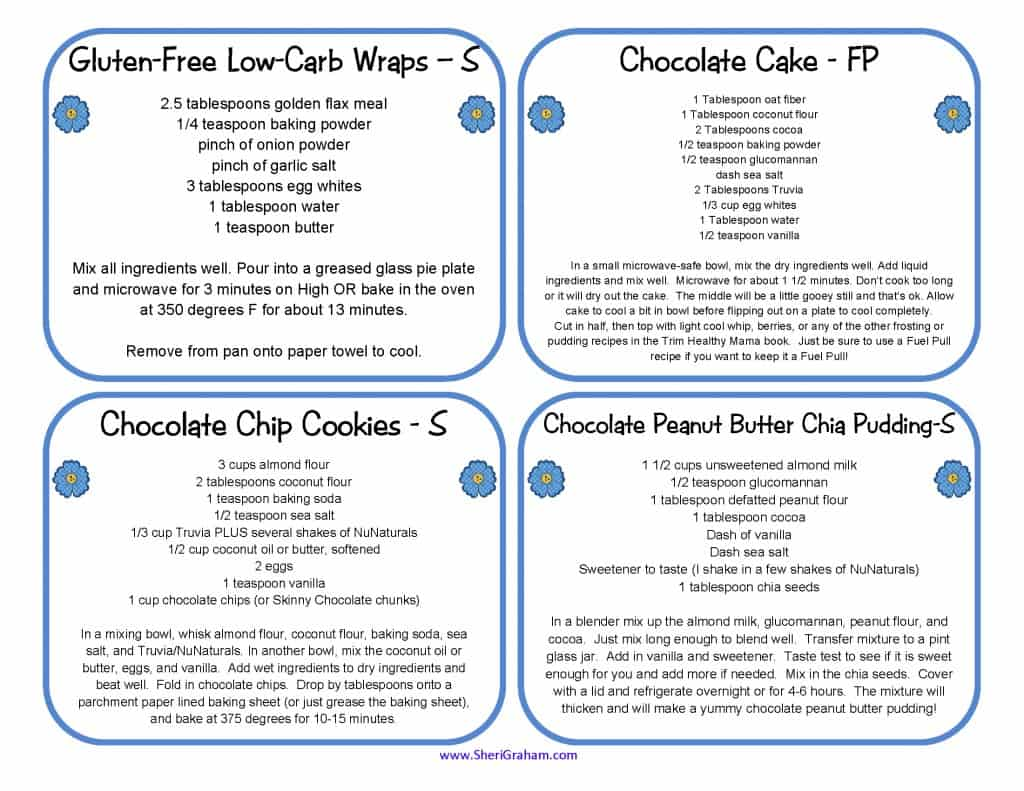 Recipe Cards (THM Friendly)