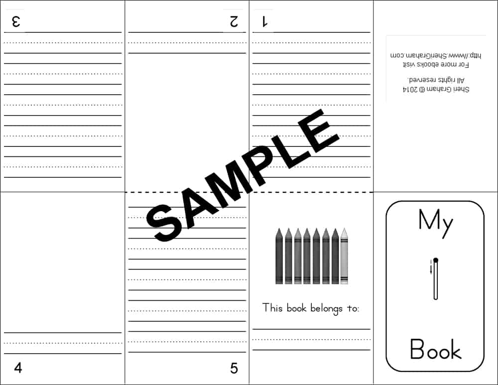 mini number books - sample