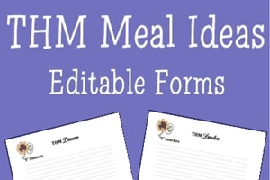 Trim Healthy Mama Meal Ideas Forms