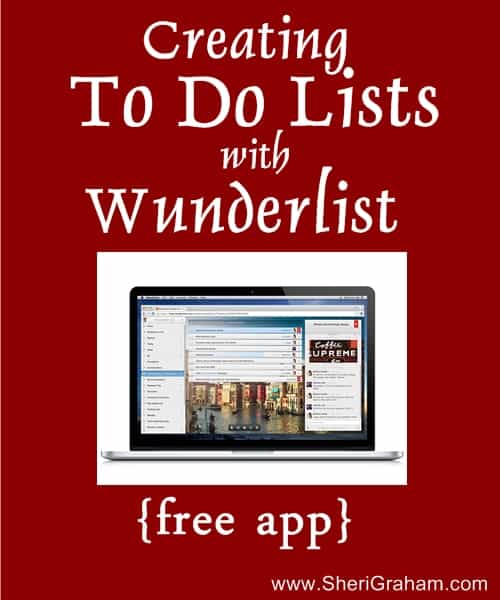 Creating to do lists with Wunderlist