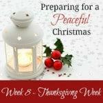Preparing for a Peaceful Christmas {Week 8}