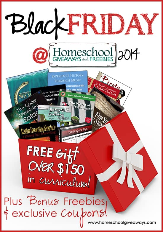 Black Friday Homeschool Giveaways - Over $150 in FREE Curriculum!