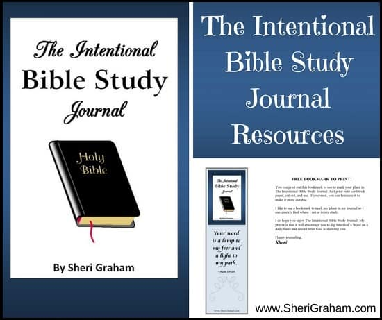 The Intentional Bible Study Journal Resources