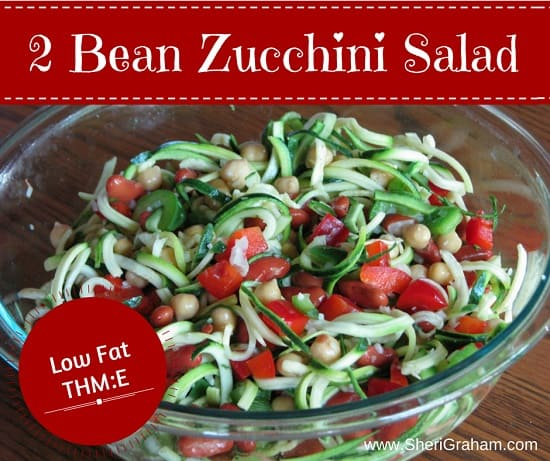 2 Bean Zucchini Salad (THM:E)