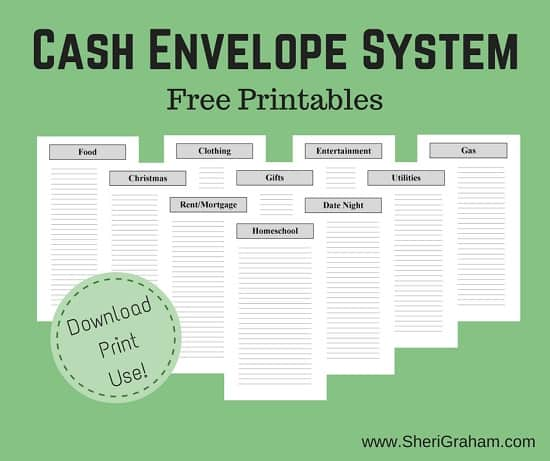 Cash Envelope System (Free Printable)