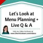 Lets Look at Menu Planning
