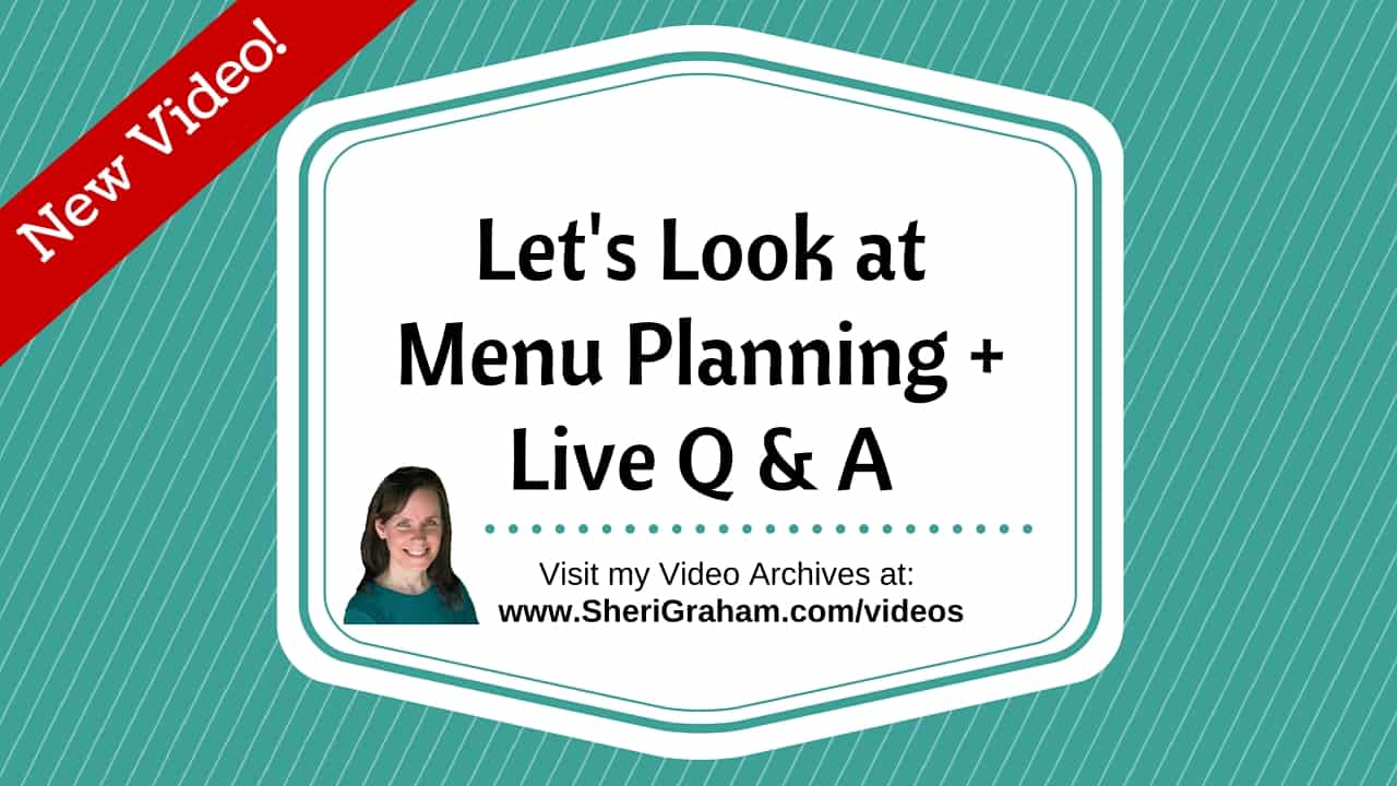 Lets Look at Menu Planning