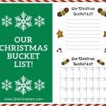 Our Christmas Bucket List (Free Printable)