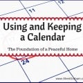 Using and Keeping a Calendar