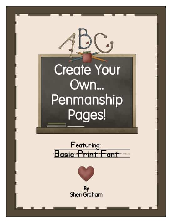 Create Your Own Penmanship Pages-Basic Print Font