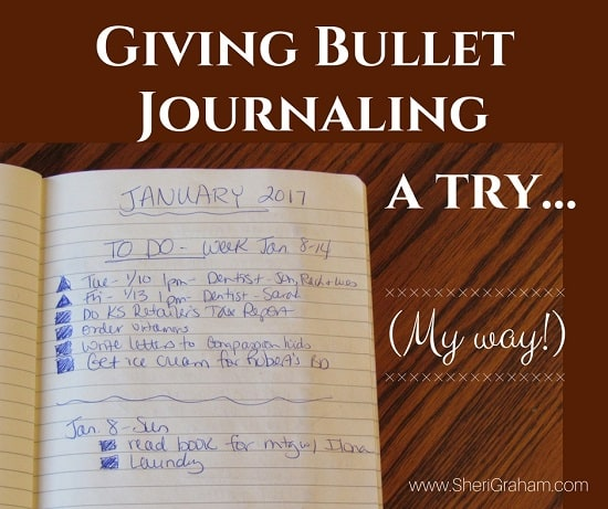 Giving Bullet Journaling a try!