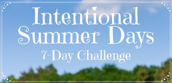 Intentional Summer Days Challenge