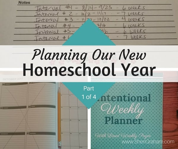 Planning Our New Homeschool Year Part 1