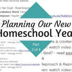 Planning Our New Homeschool Year Part 2