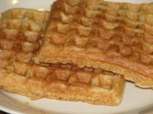 how to make waffles using pancake batter