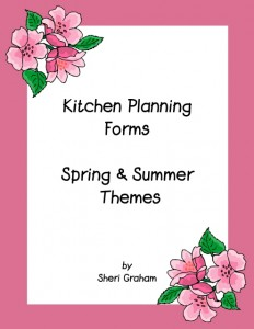 Need some pretty menu planning forms?