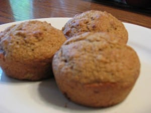 Applesauce Nut Muffins