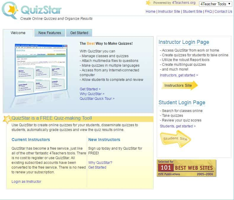 Free website to create quizzes and tests!
