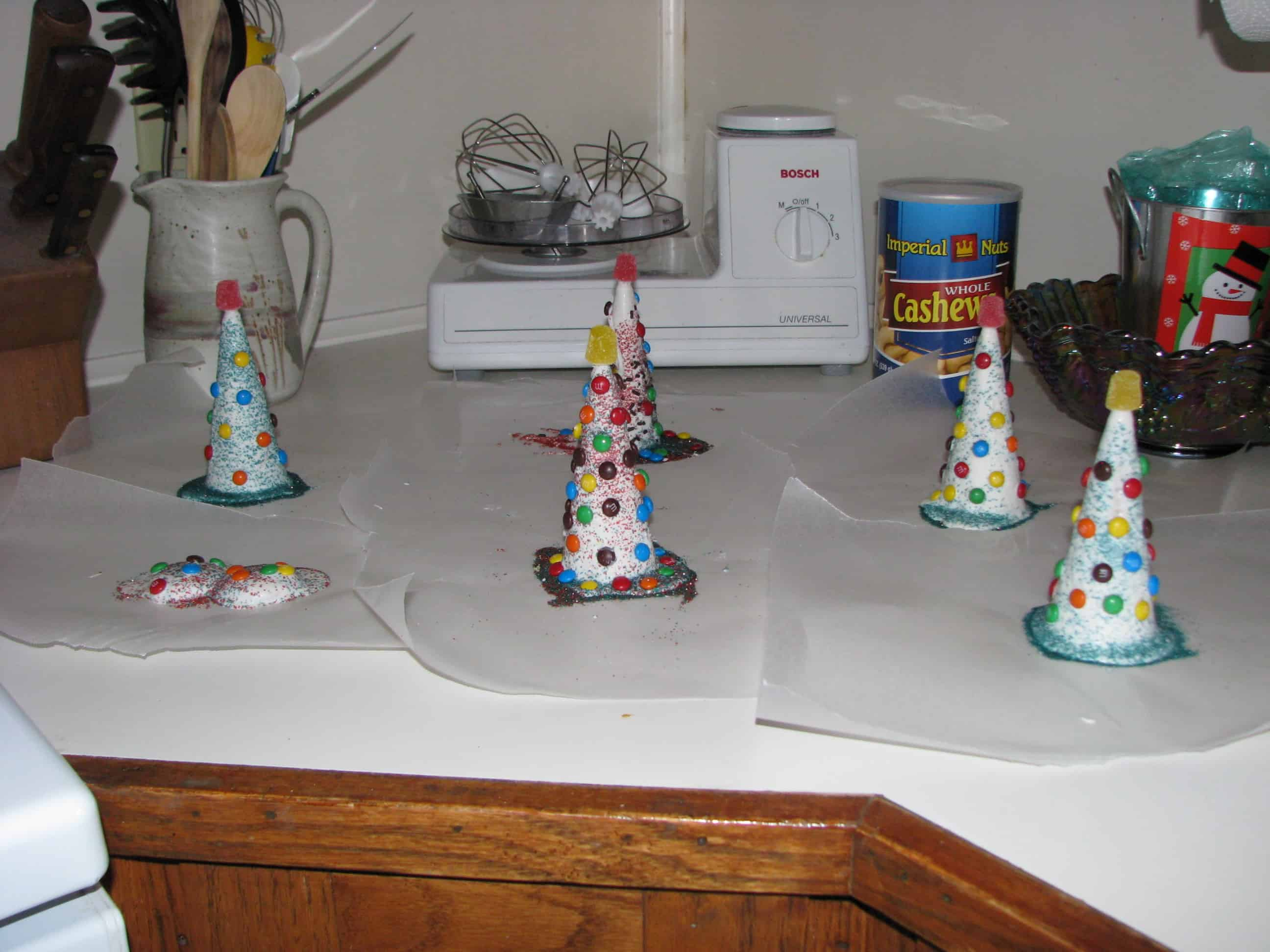 Homemade for the Holidays #24:  Sugar Cone Christmas Trees