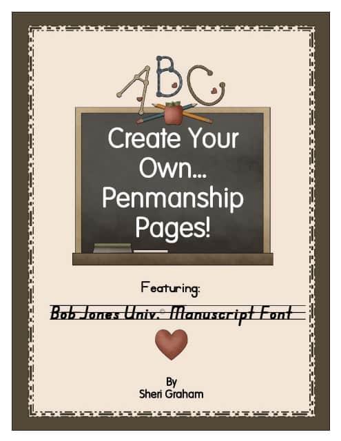 Create Your Own Penmanship Pages - Bob Jones University Manuscript Font