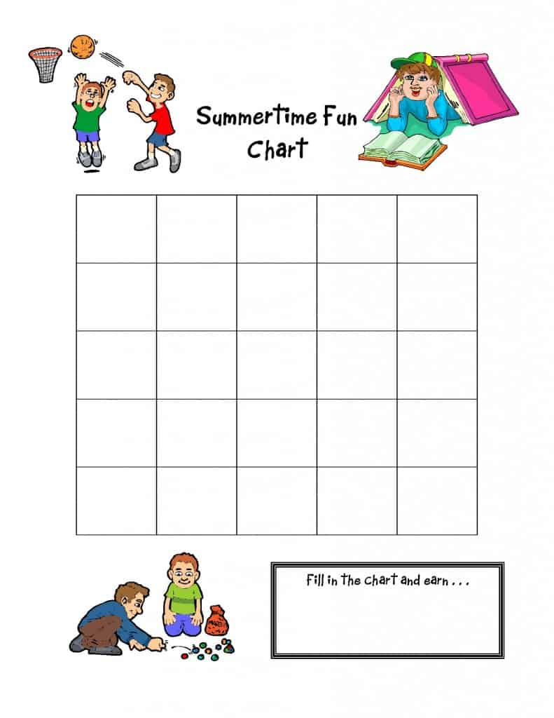 {FREE} Summertime Fun Charts!