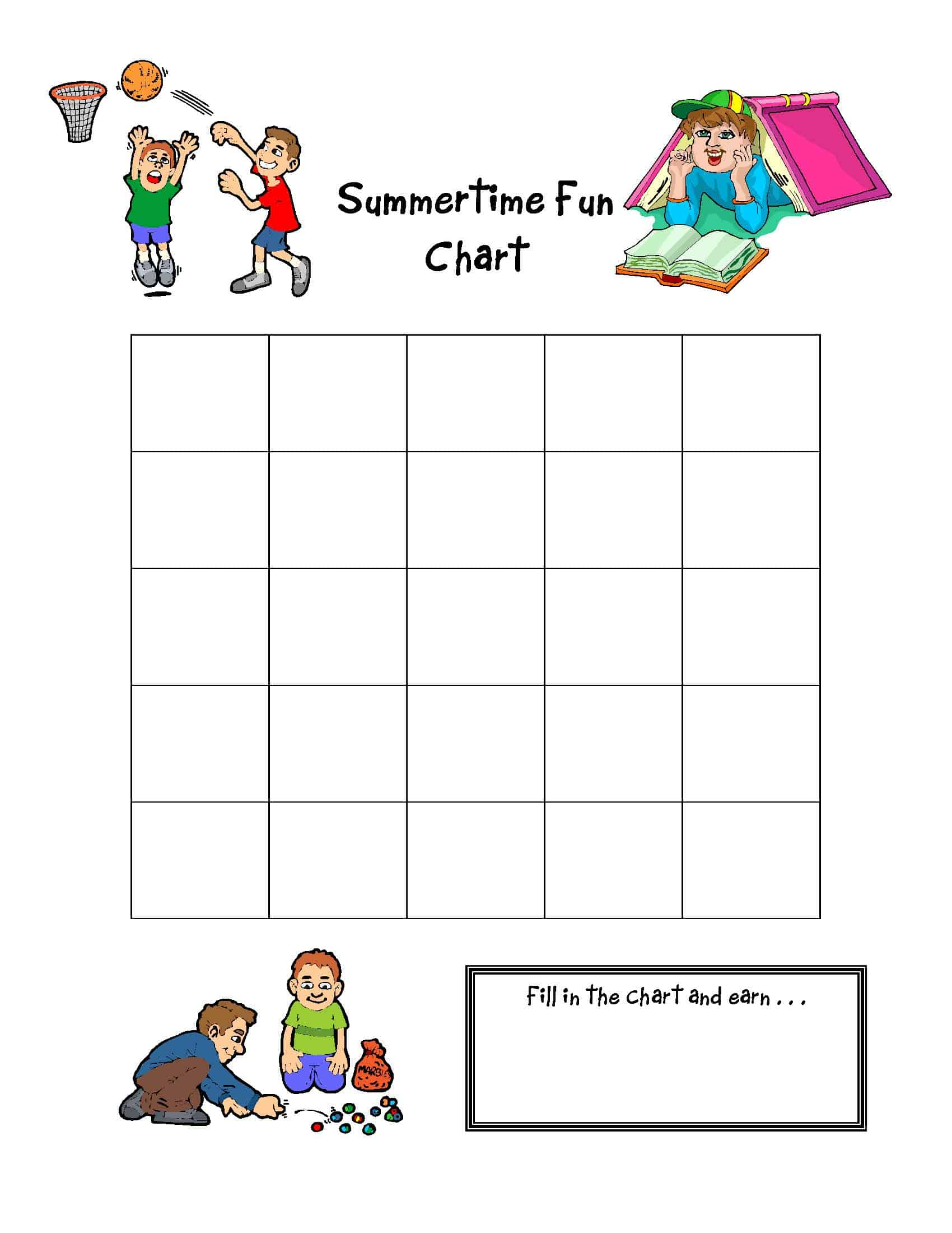 {FREE} Summertime Fun Charts to Download!