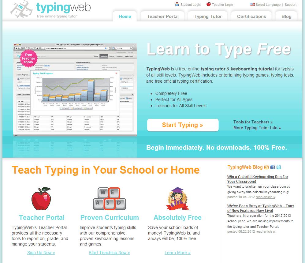 TypingWeb {free online typing program}