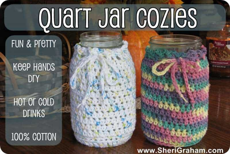 Quart Jar Cozies Now Available {for all your Trim Healthy Mama drinks!}