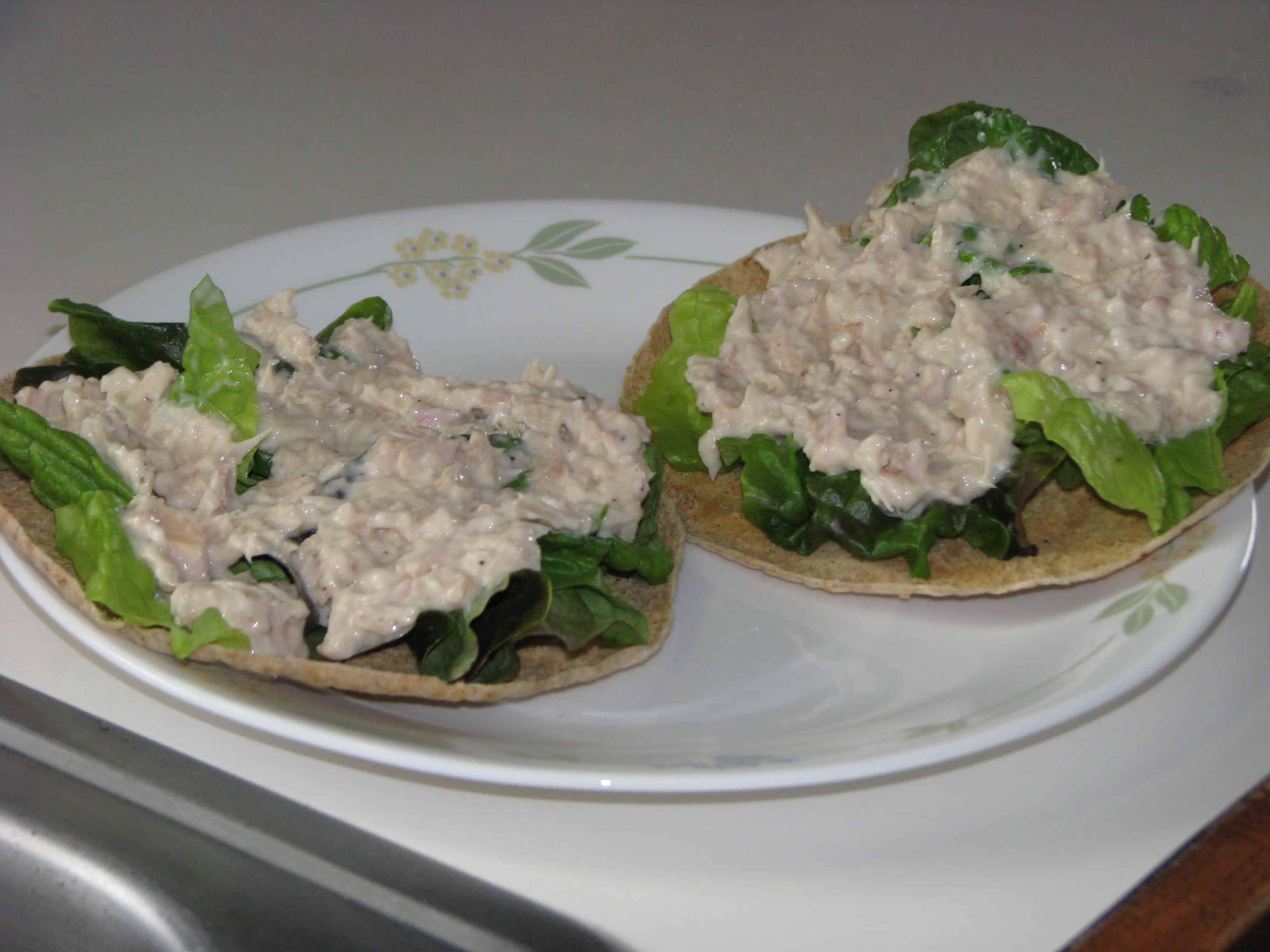 Trim Healthy Mama {Tuna Salad on Crispy Pita}