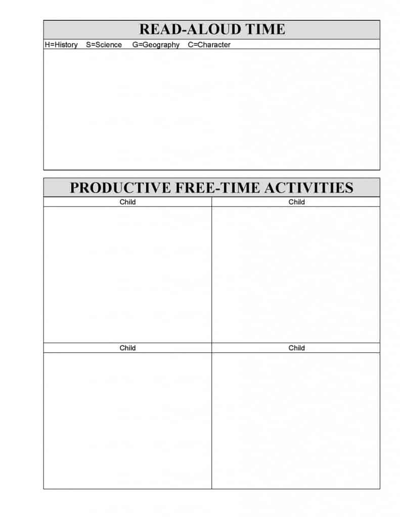 free homeschool planning forms