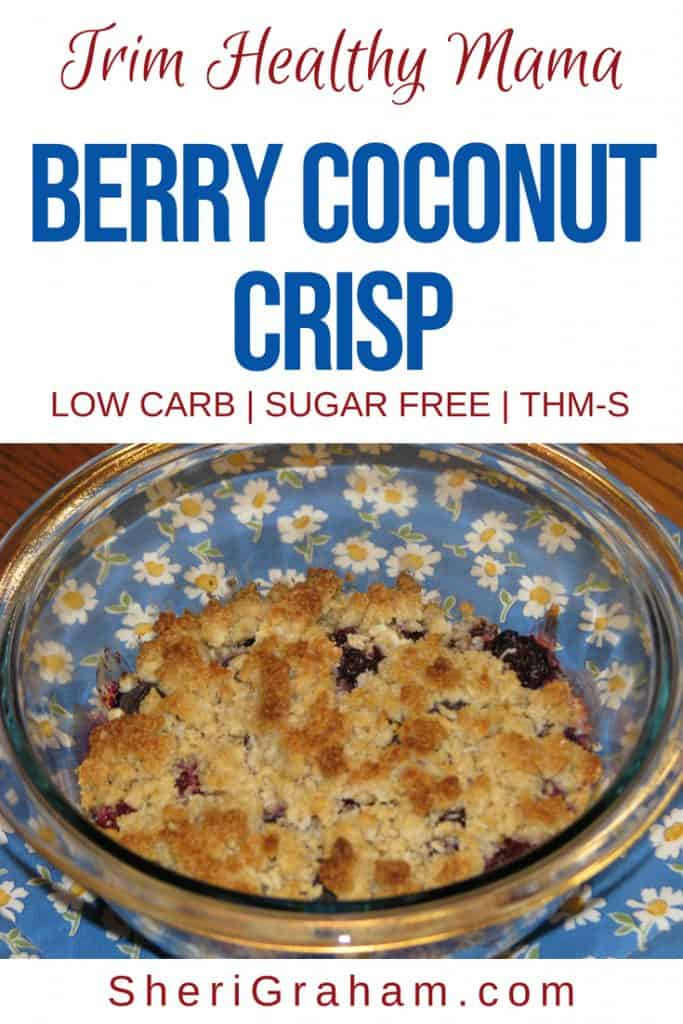 Berry Coconut Crisp in a bowl.