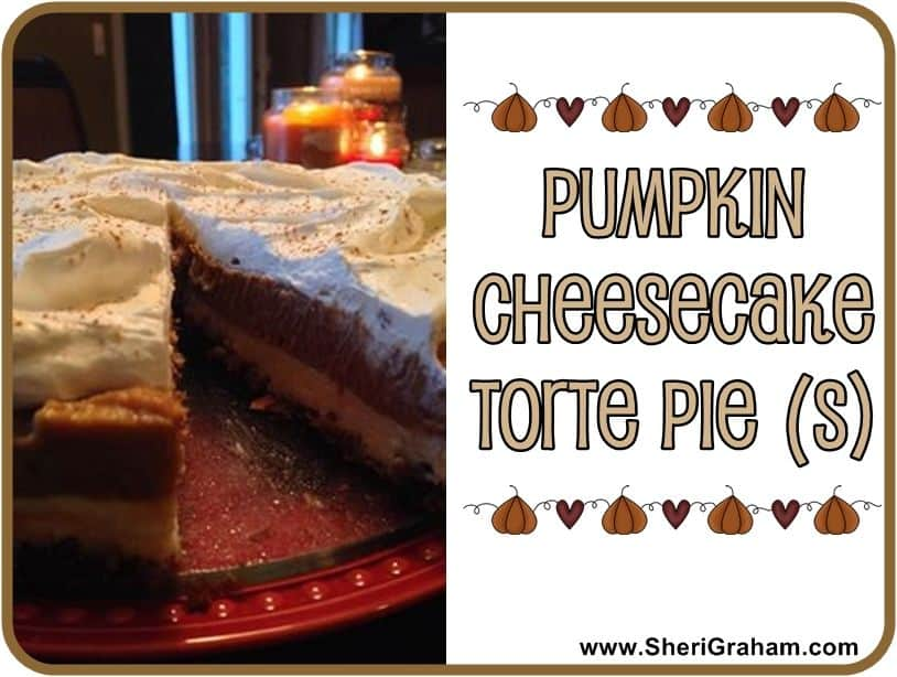 Trim Healthy Mama {Pumpkin Cheesecake Torte Pie}