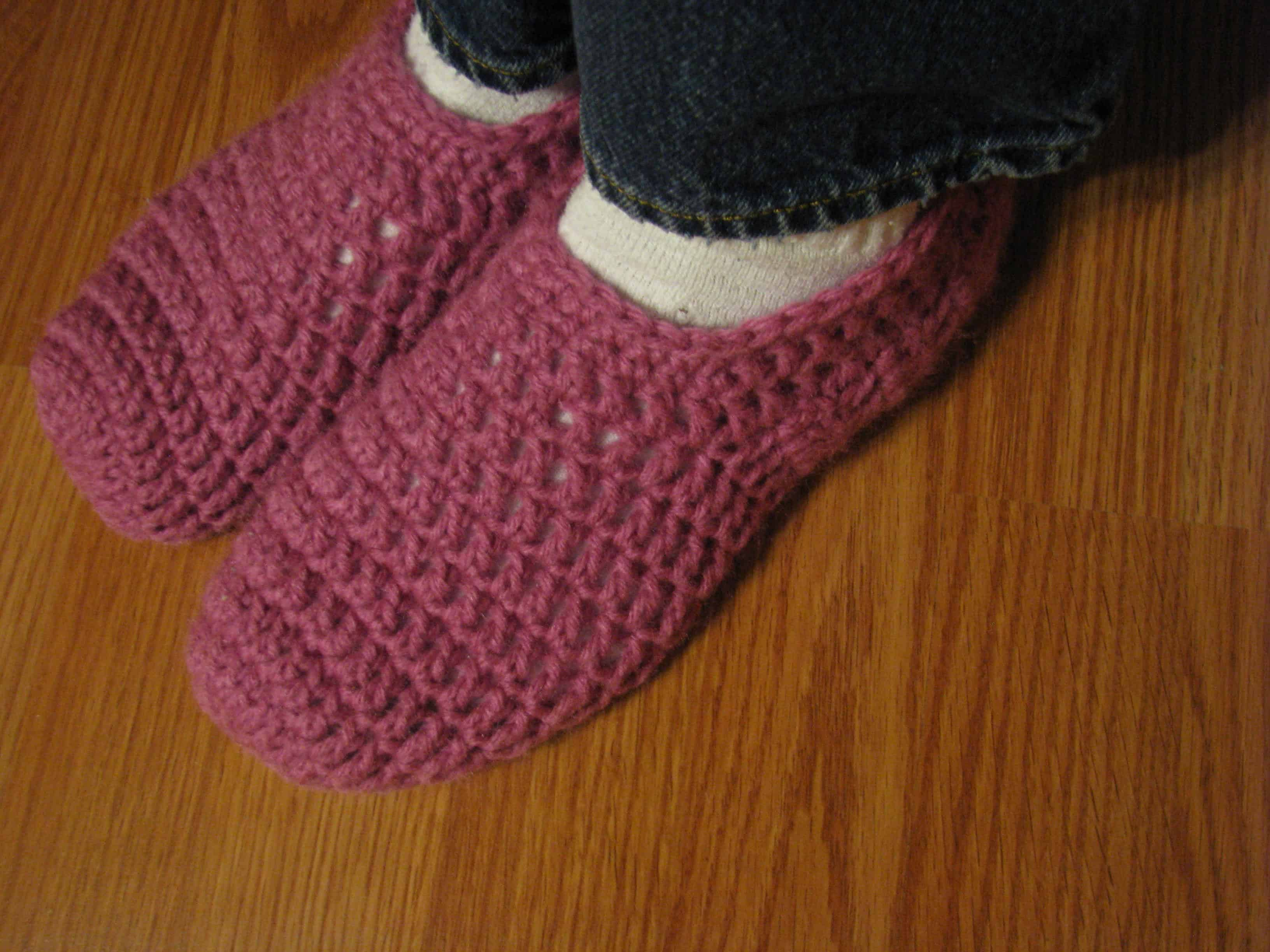 My Weekend Project: Crocheted Slippers!