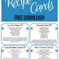 Picture of recipe cards