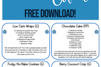 Blank Editable Recipe Cards – 1, 2 & 4 card versions {free download}