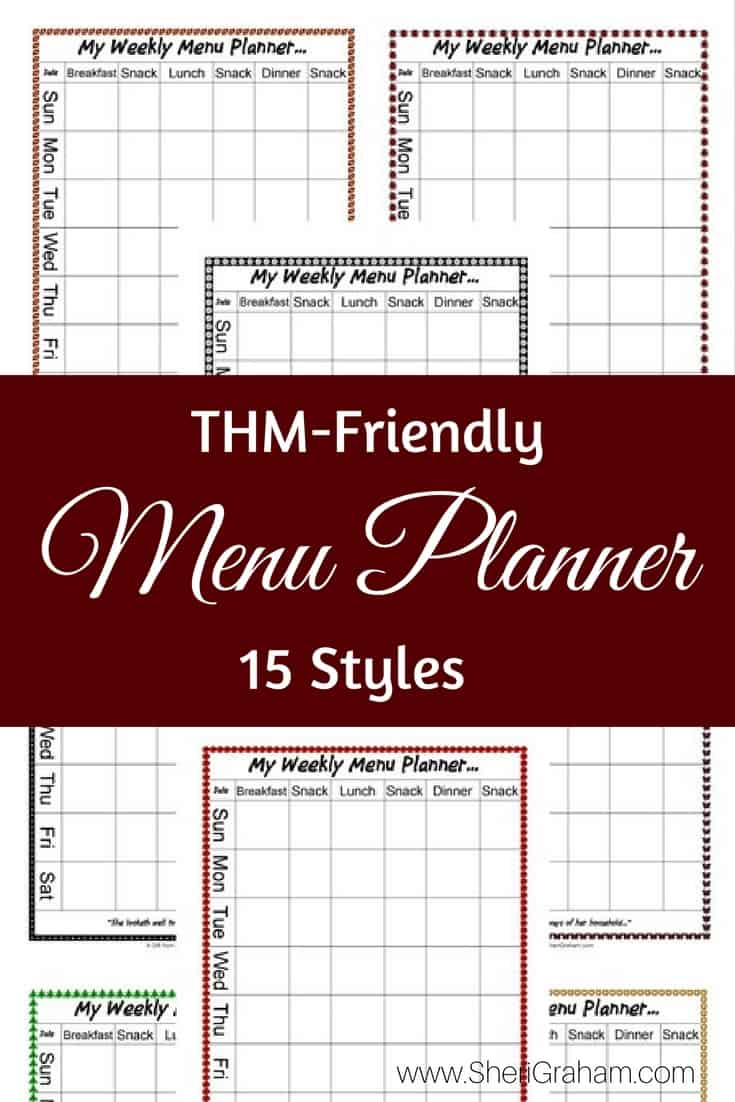 It is a photo of Terrible Thm Menu Planner