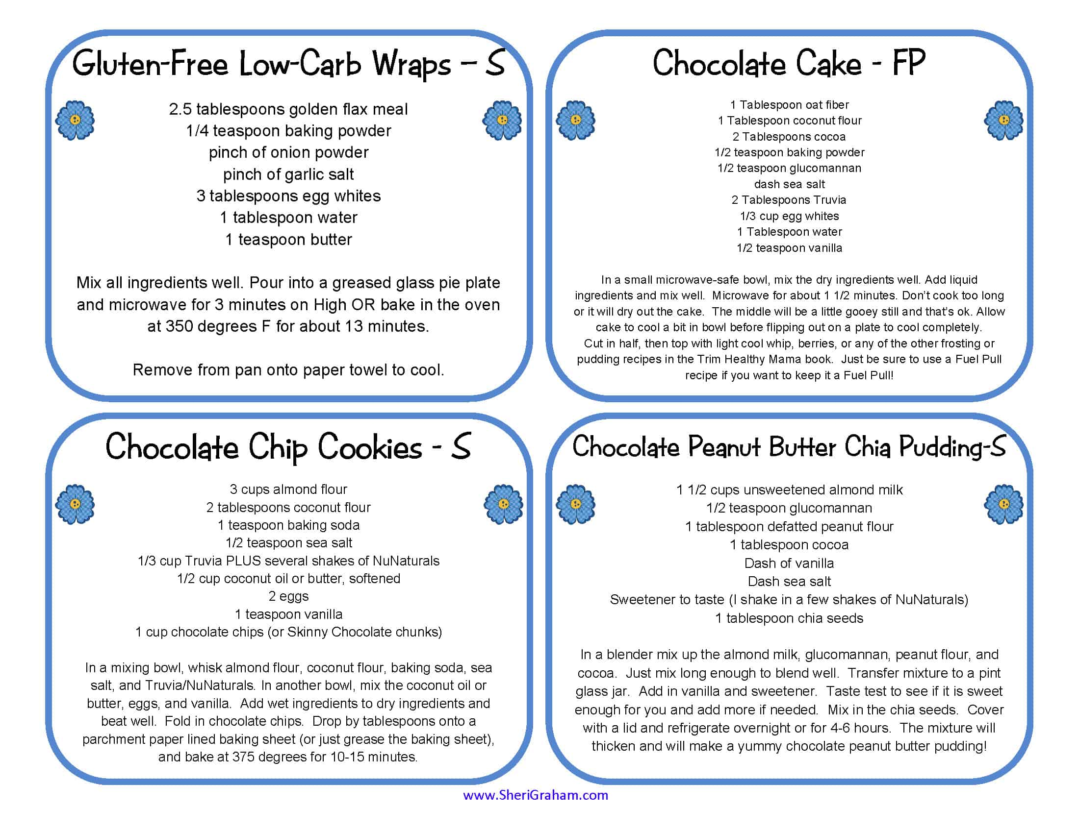 Printable Recipe Cards (THM Friendly)